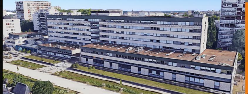 AMOLIA - UIOSS d'Angers (Union Immobilière des Organismes de Sécurité Sociale) a lancé un grand projet de réhabilitation thermique du bâtiment regroupant la CPAM et la CAF d'Angers