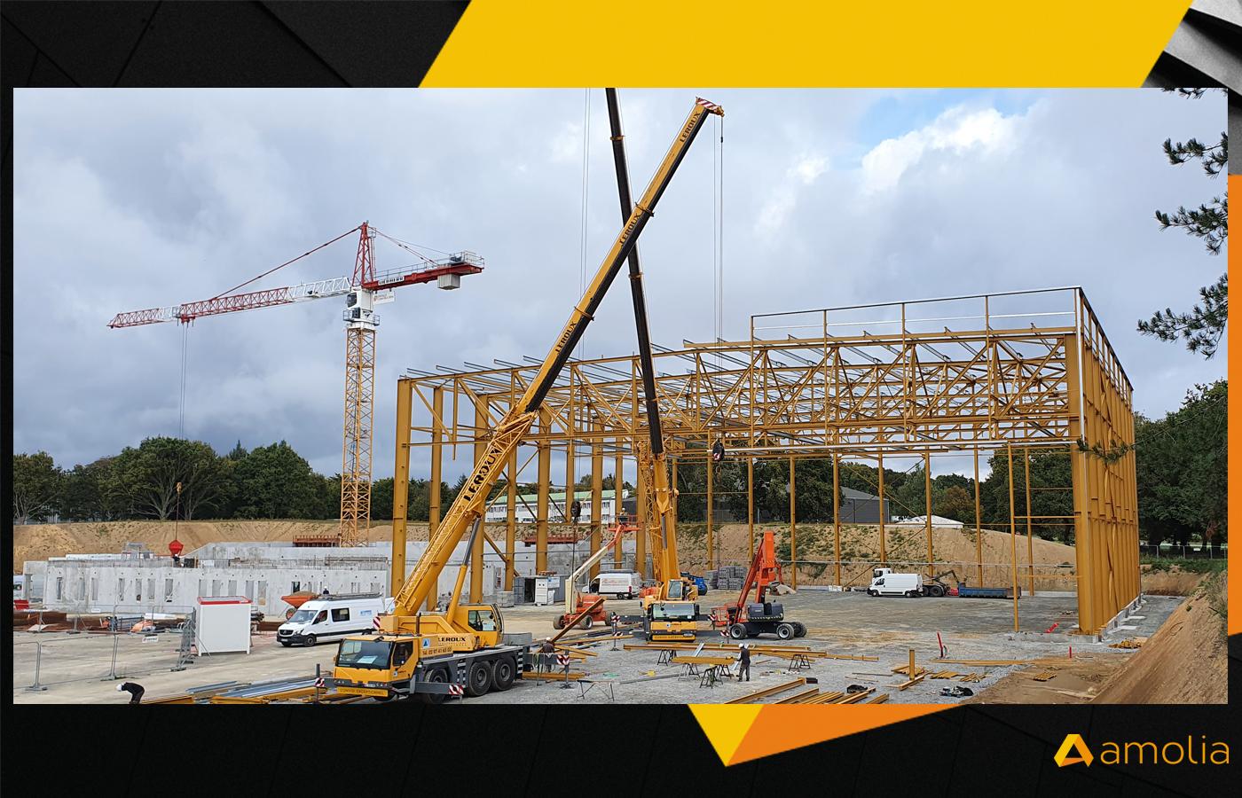 AMOLIA - Réalisation d'un bâtiment de maintenance industrielle pour les aéronefs de la base aéronavale de Lann Bihoué