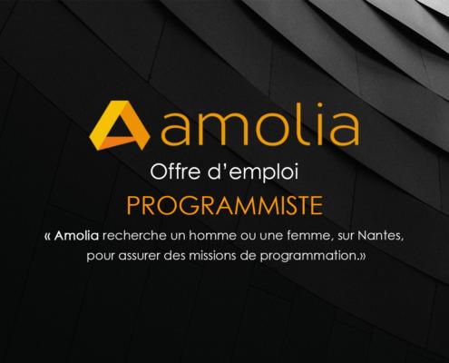 Offre emploi programmiste AMOLIA